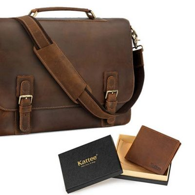 Kattee Leather Messenger Bag Review